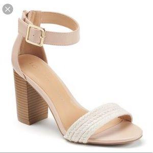 LC Woven Block Heel